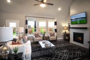 After shot of Beazer living room in Rockwall