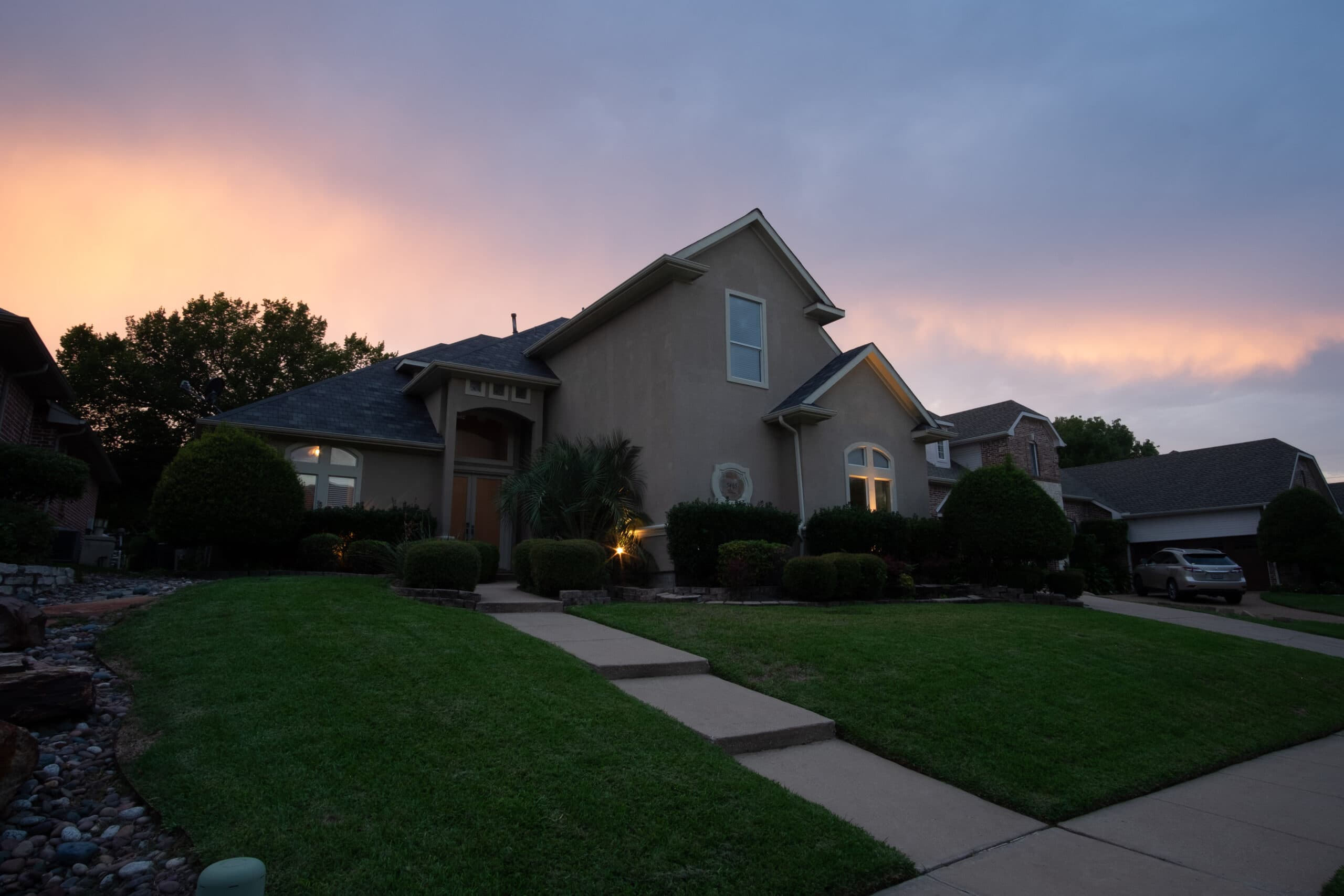 Before sunset shot of home
